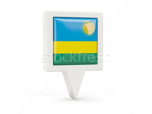 Square flag icon of rwanda Stock photo © MikhailMishchenko