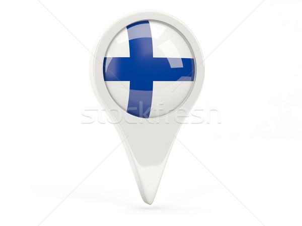 флаг икона Финляндия изолированный белый карта Сток-фото © MikhailMishchenko