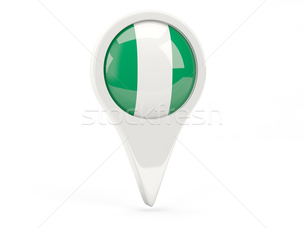 Bayrak ikon Nijerya yalıtılmış beyaz harita Stok fotoğraf © MikhailMishchenko