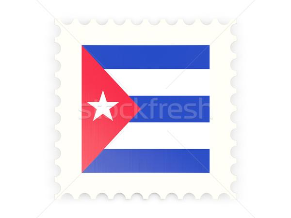 ícone Cuba isolado branco e-mail Foto stock © MikhailMishchenko