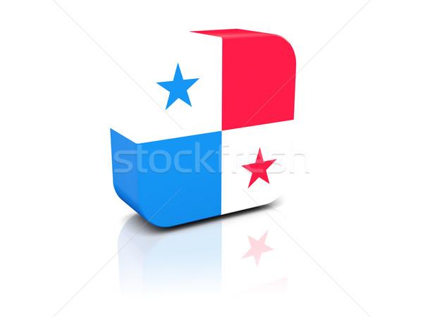 Square icon with flag of panama Stock photo © MikhailMishchenko