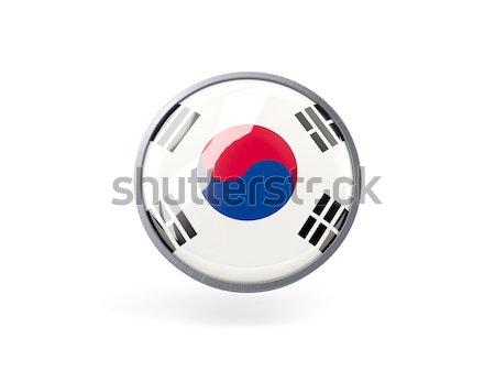 Round icon of flag of south korea Stock photo © MikhailMishchenko