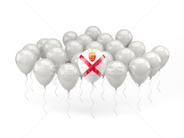 Air balloons with flag of jersey Stock photo © MikhailMishchenko