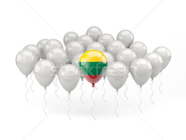 воздуха шаров флаг Литва изолированный белый Сток-фото © MikhailMishchenko