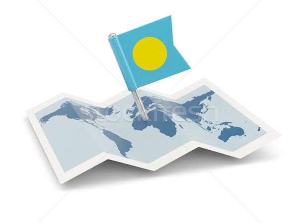 地図 フラグ パラオ 孤立した 白 旅行 ストックフォト © MikhailMishchenko