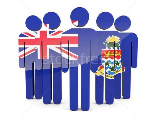 People with flag of cayman islands Stock photo © MikhailMishchenko