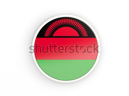 Round sticker with flag of malawi Stock photo © MikhailMishchenko