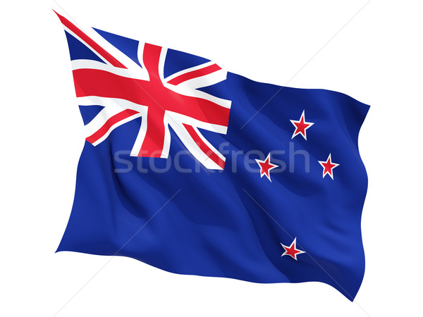 Waving flag of new zealand Stock photo © MikhailMishchenko