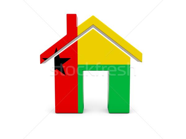 ホーム フラグ ギニア 孤立した 白 検索 ストックフォト © MikhailMishchenko