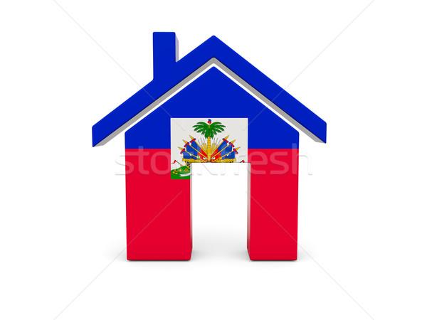 Home vlag Haïti geïsoleerd witte Zoek Stockfoto © MikhailMishchenko