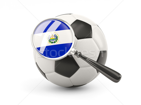 Football with magnified flag of el salvador Stock photo © MikhailMishchenko