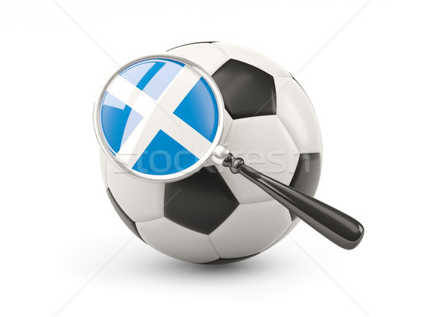 Football with magnified flag of scotland Stock photo © MikhailMishchenko