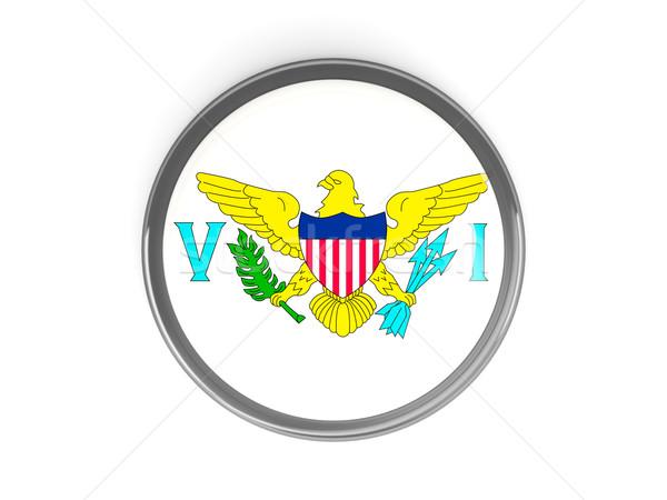 кнопки флаг США Виргинские о-ва металл Мир Сток-фото © MikhailMishchenko