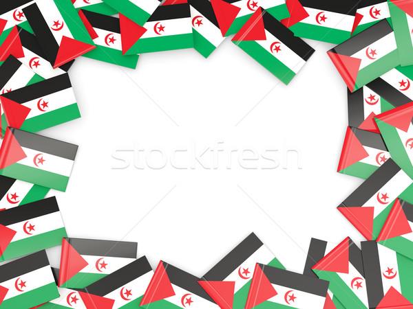 Frame bandiera occidentale sahara isolato bianco Foto d'archivio © MikhailMishchenko