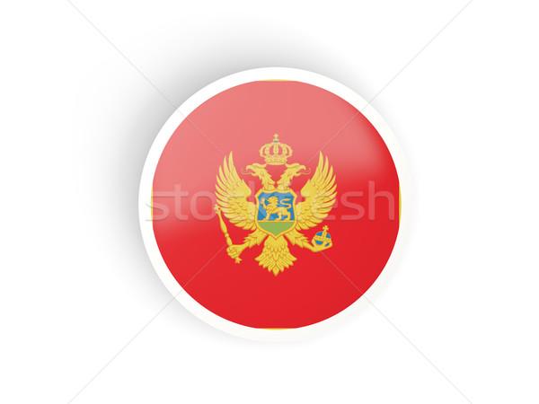 наклейку флаг Черногория изолированный белый путешествия Сток-фото © MikhailMishchenko