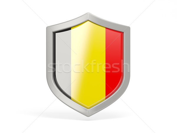 Shield icon with flag of belgium Stock photo © MikhailMishchenko