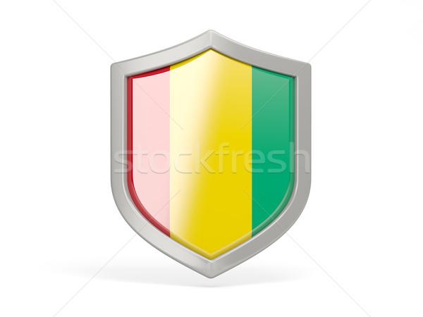 Schild icon vlag Guinea geïsoleerd witte Stockfoto © MikhailMishchenko