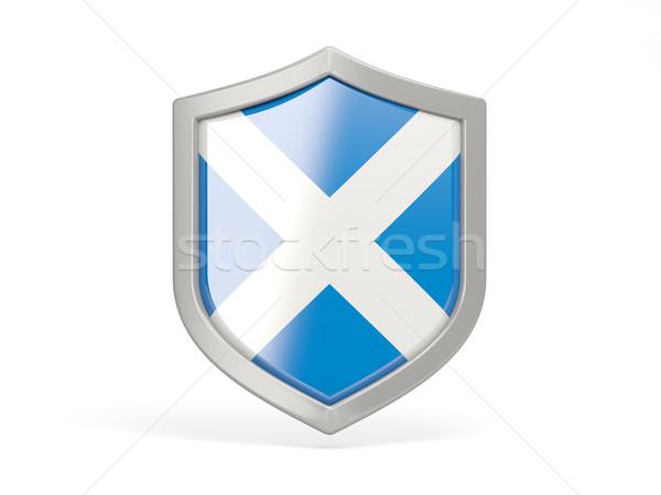 Schild icon vlag Schotland geïsoleerd witte Stockfoto © MikhailMishchenko