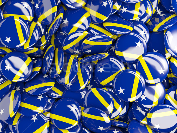 Background with round pins with flag of curacao Stock photo © MikhailMishchenko