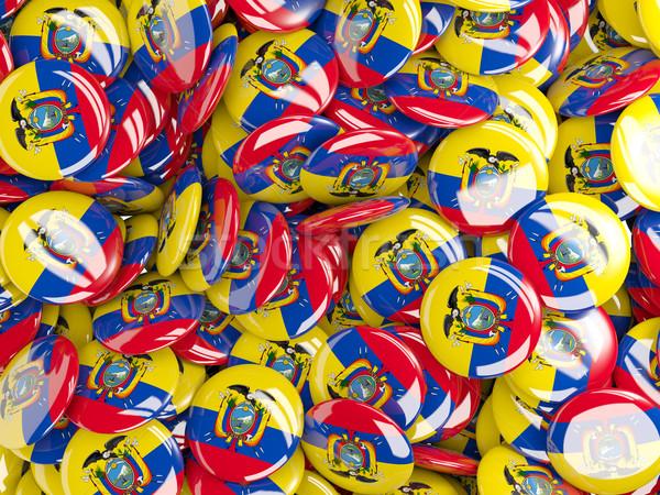 Background with round pins with flag of ecuador Stock photo © MikhailMishchenko