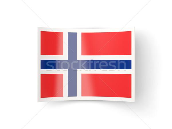 Bent icon with flag of norway Stock photo © MikhailMishchenko