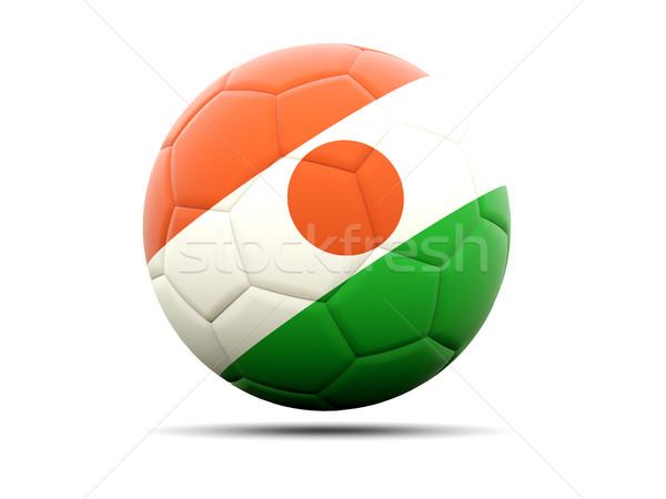 футбола флаг Нигер 3d иллюстрации Футбол спорт Сток-фото © MikhailMishchenko