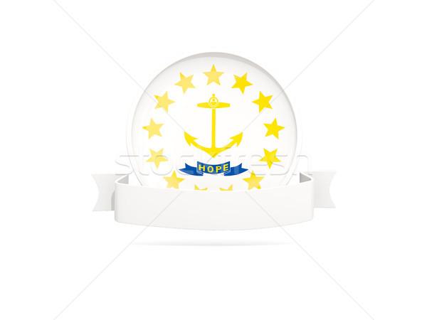 Bandeira ilha bandeira ícone isolado branco Foto stock © MikhailMishchenko