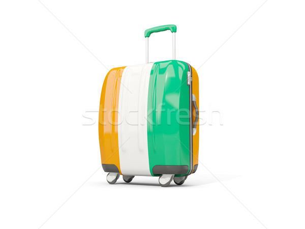 Equipaje bandera maleta aislado blanco 3d Foto stock © MikhailMishchenko