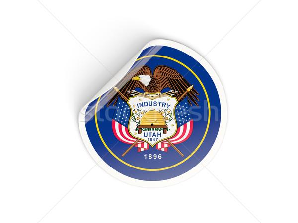 Banderą naklejki odizolowany biały 3d ilustracji Ameryki Zdjęcia stock © MikhailMishchenko