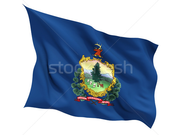 Bandeira isolado branco ilustração 3d américa Foto stock © MikhailMishchenko