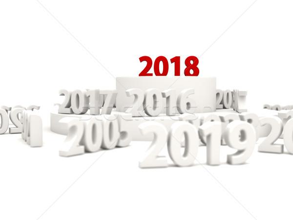 Szczęśliwego nowego roku symbol inny rok 3d ilustracji streszczenie Zdjęcia stock © MikhailMishchenko