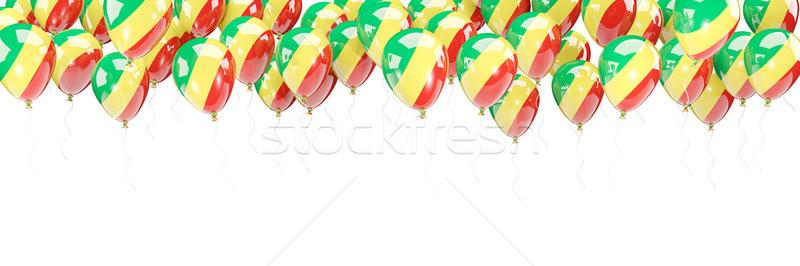 Balonlar çerçeve bayrak cumhuriyet Kongo yalıtılmış Stok fotoğraf © MikhailMishchenko