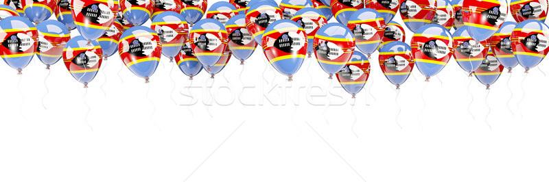 Ballons cadre pavillon Swaziland isolé blanche Photo stock © MikhailMishchenko