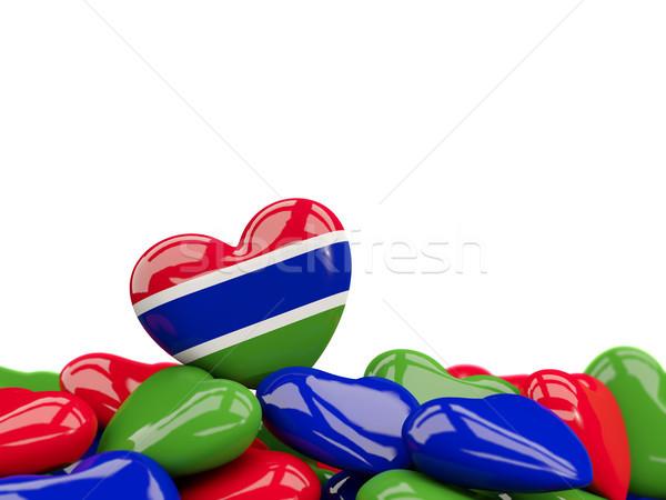 Heart with flag of gambia Stock photo © MikhailMishchenko