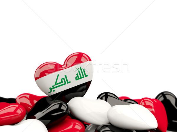 Kalp bayrak Irak üst kalpler yalıtılmış Stok fotoğraf © MikhailMishchenko