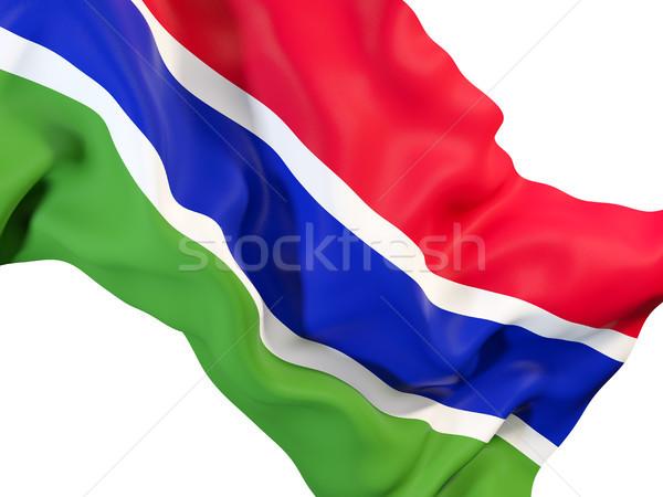 Waving flag of gambia Stock photo © MikhailMishchenko