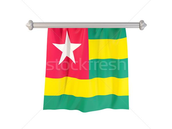 Bandiera Togo isolato bianco illustrazione 3d etichetta Foto d'archivio © MikhailMishchenko
