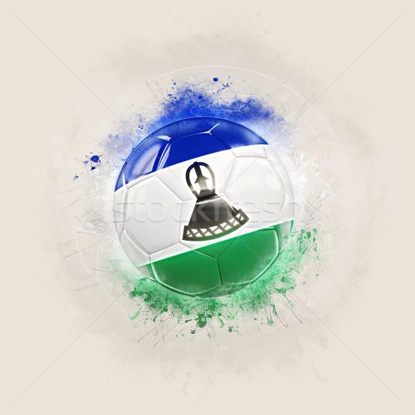 Grunge football pavillon Lesotho 3d illustration monde Photo stock © MikhailMishchenko