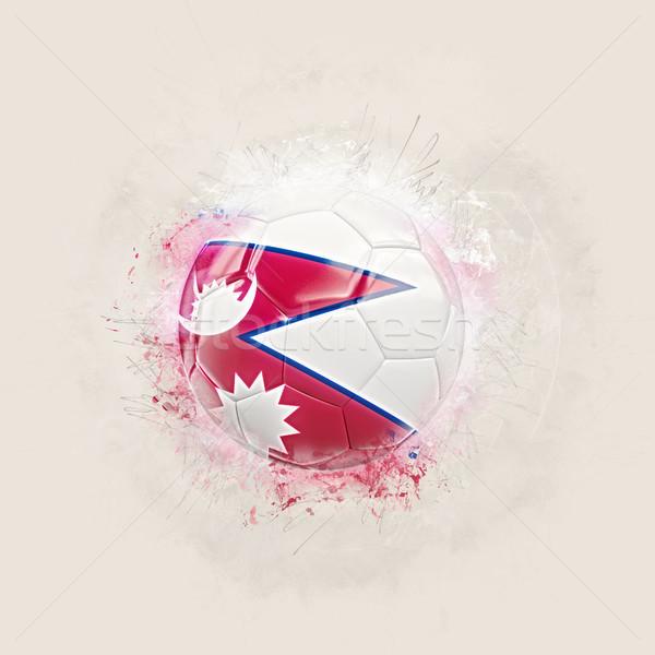Гранж футбола флаг Непал 3d иллюстрации Мир Сток-фото © MikhailMishchenko