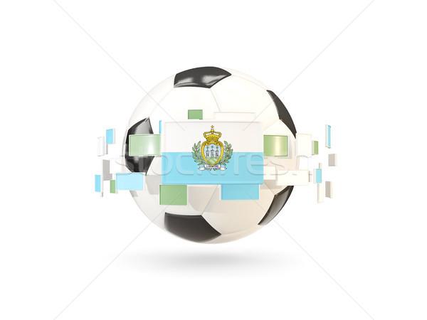 футбольным мячом линия флагами флаг Сан-Марино Сток-фото © MikhailMishchenko