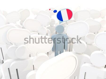 человека флаг Япония толпа 3d иллюстрации заседание Сток-фото © MikhailMishchenko