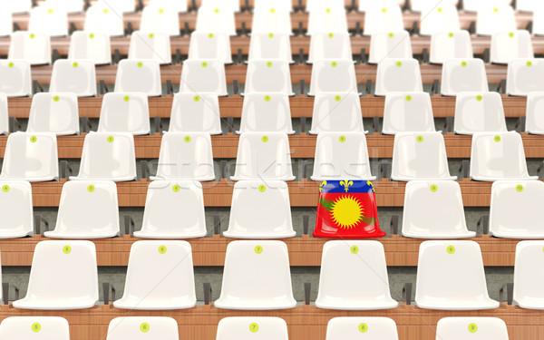 Estádio assento bandeira branco cadeiras Foto stock © MikhailMishchenko