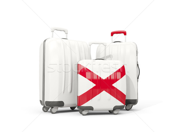 Luggage with flag of alabama. Three bags with united states loca Stock photo © MikhailMishchenko