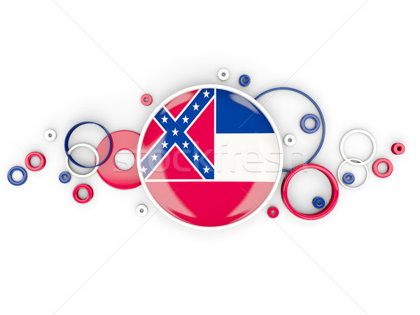 Round flag of mississippi with circles pattern. United states lo Stock photo © MikhailMishchenko