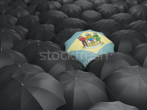 delaware state flag on umbrella. United states local flags Stock photo © MikhailMishchenko