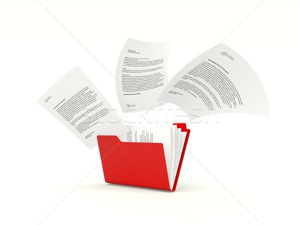 Zdjęcia stock: Folderze · plików · odizolowany · biały · Internetu · danych