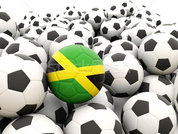 Futebol bandeira Jamaica regular verão Foto stock © MikhailMishchenko