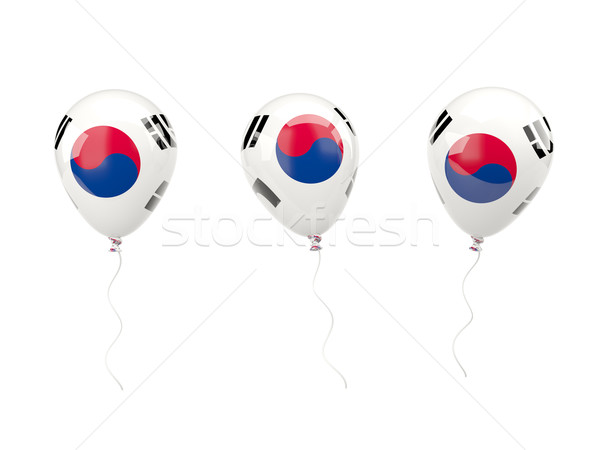 Air balloons with flag of south korea Stock photo © MikhailMishchenko