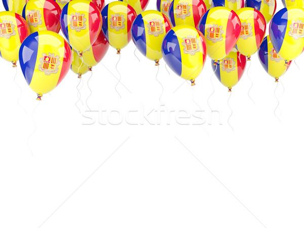 Balloon frame with flag of andorra Stock photo © MikhailMishchenko