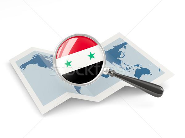 Bandeira Síria mapa viajar Foto stock © MikhailMishchenko